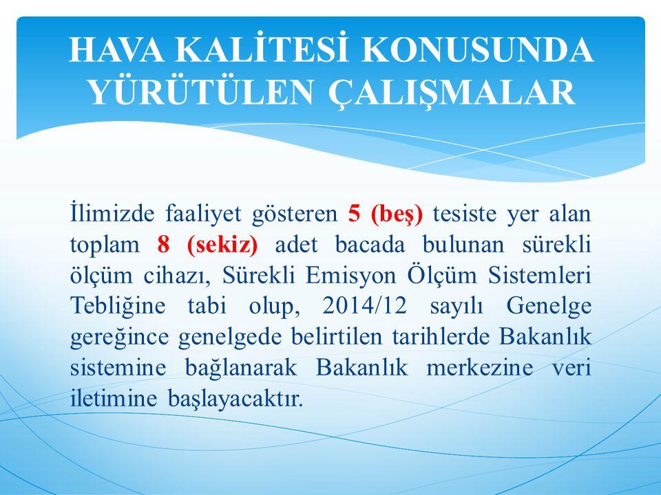 Hava kirliliğinin doğru bir şekilde ölçülmesi, tüm illerimizde hava kirliliği politikaları oluşturulması ve bu politikalar çerçevesinde illerin hava kalitesinin bir önceki yılın değerlerinden daha iyi durumlara getirilebilmesi amacıyla, Bakanlığımız tarafından 2005-2007 yılları arasında 81 ilde hava kalitesi ölçüm istasyonu kurulmuş ve Türkiye genelinde Ulusal Hava Kalitesi İzleme Ağı oluşturulmuştur.