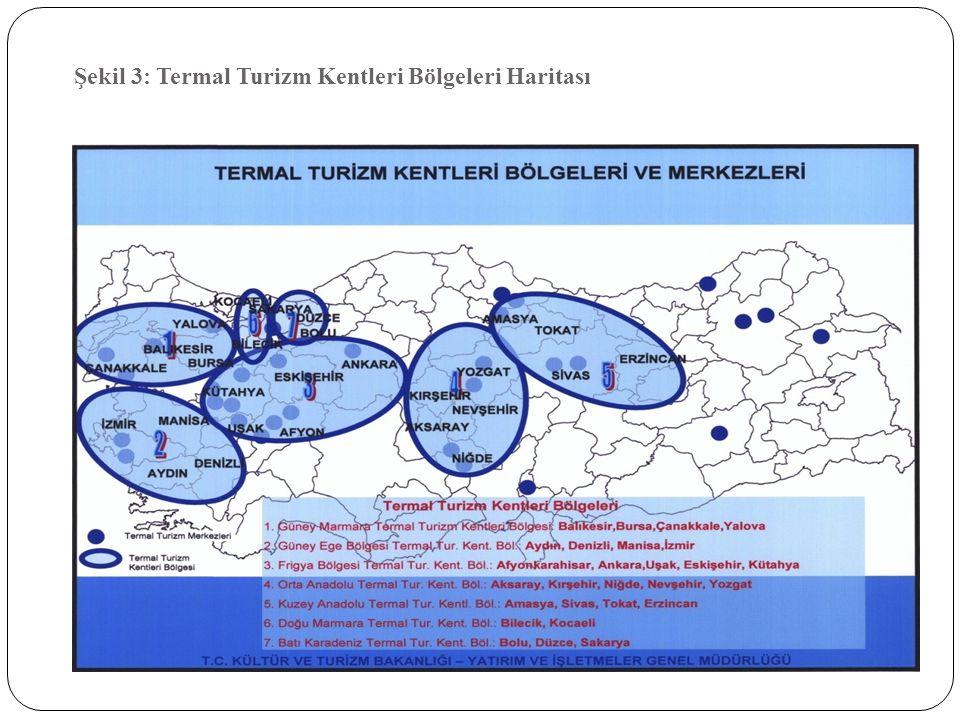 Şekil 3: Termal Turizm Kentleri Bölgeleri Haritası