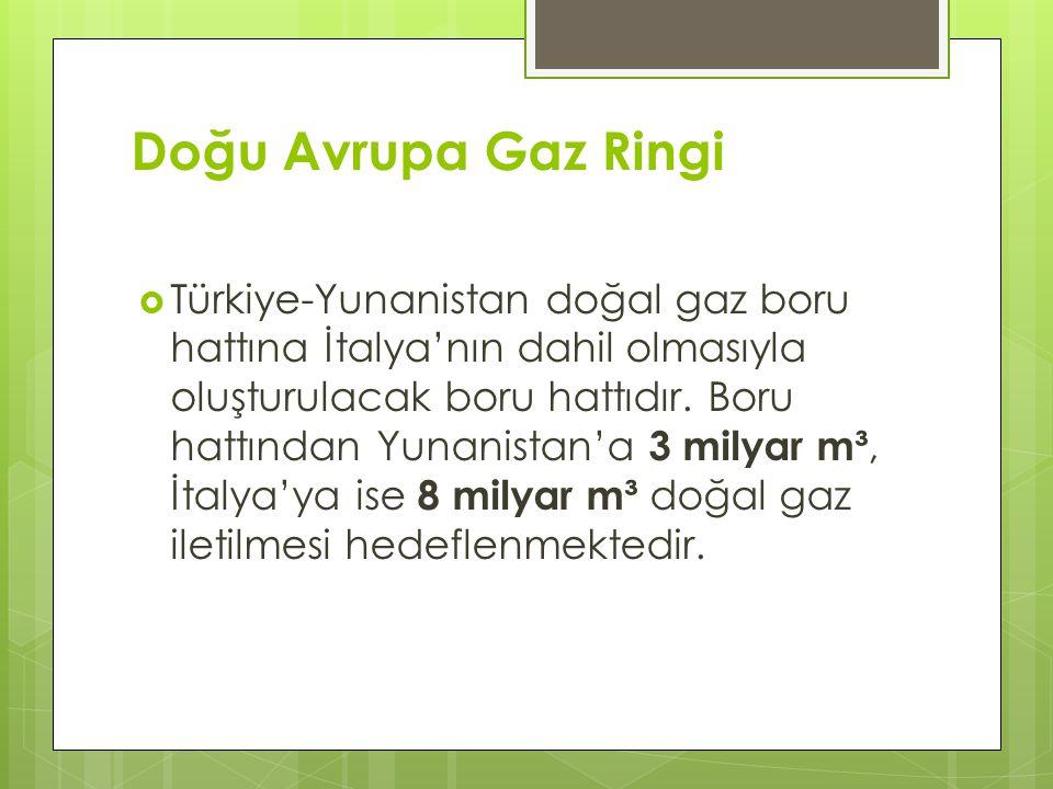 Doğu Avrupa Gaz Ringi  Türkiye-Yunanistan doğal gaz boru hattına İtalya'nın dahil olmasıyla oluşturulacak boru hattıdır. Boru hattından Yunanistan'a