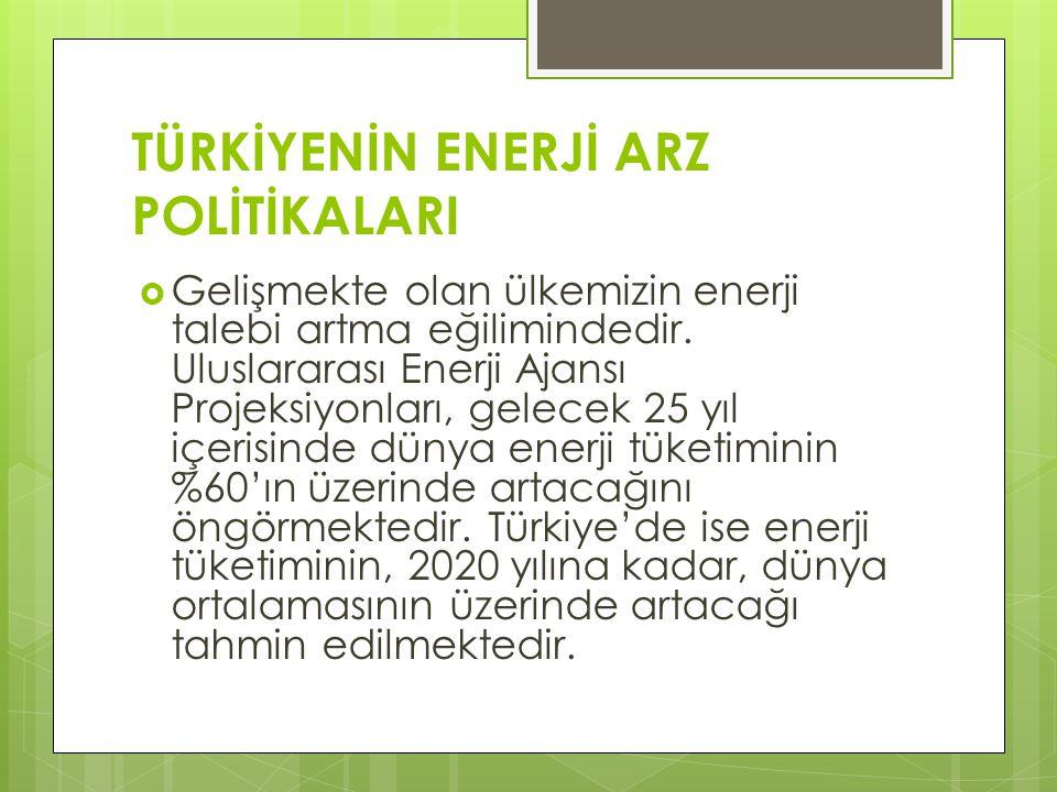  Ülkenin enerji kaynakları arasında da belirli bir denge gözetmek gerekmektedir   Türkiye enerjisinin % 33'ü petrolden, %28 kömürden, % 29 doğalgazdan ve %10'u yenilenebilir kaynaklardan sağlanmaktadır.