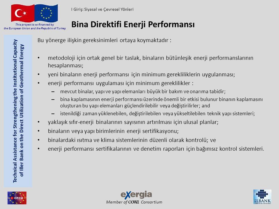 Member of Consortium This project is co-financed by the European Union and the Republic of Turkey Bu yönerge ilişkin gereksinimleri ortaya koymaktadır