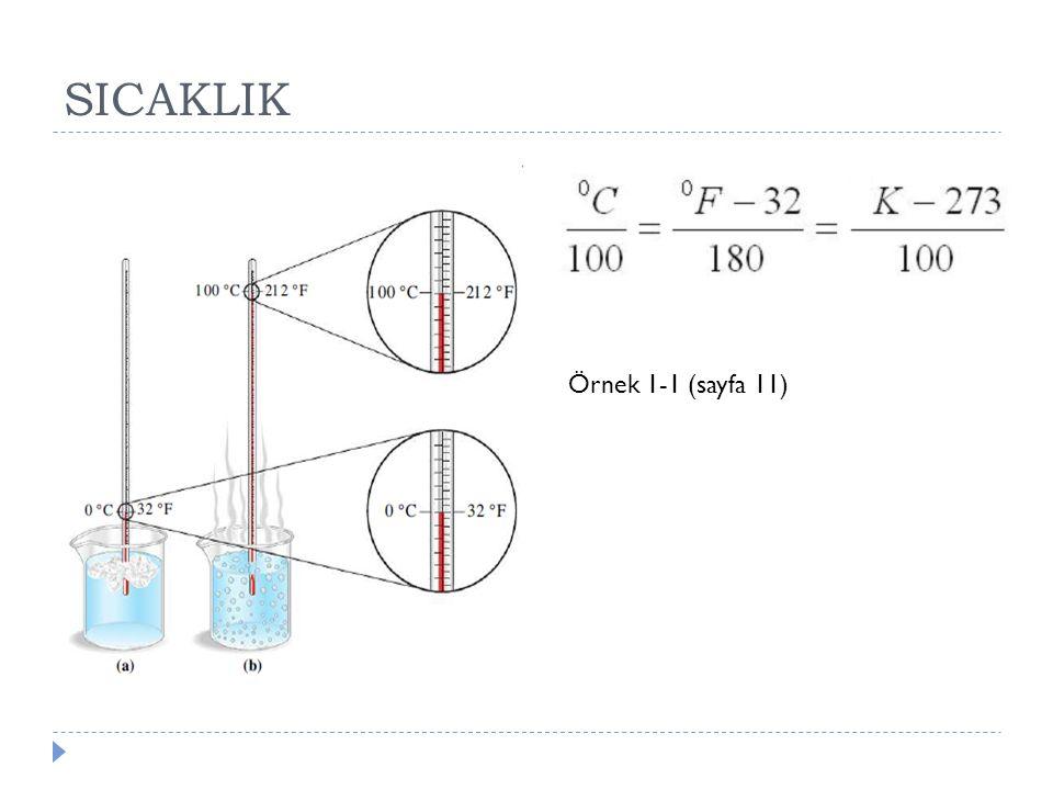 SICAKLIK Örnek 1-1 (sayfa 11)