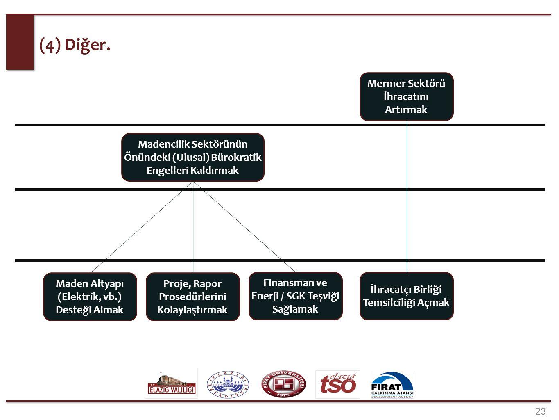 23 (4) Diğer. İhracatçı Birliği Temsilciliği Açmak Proje, Rapor Prosedürlerini Kolaylaştırmak Madencilik Sektörünün Önündeki (Ulusal) Bürokratik Engel