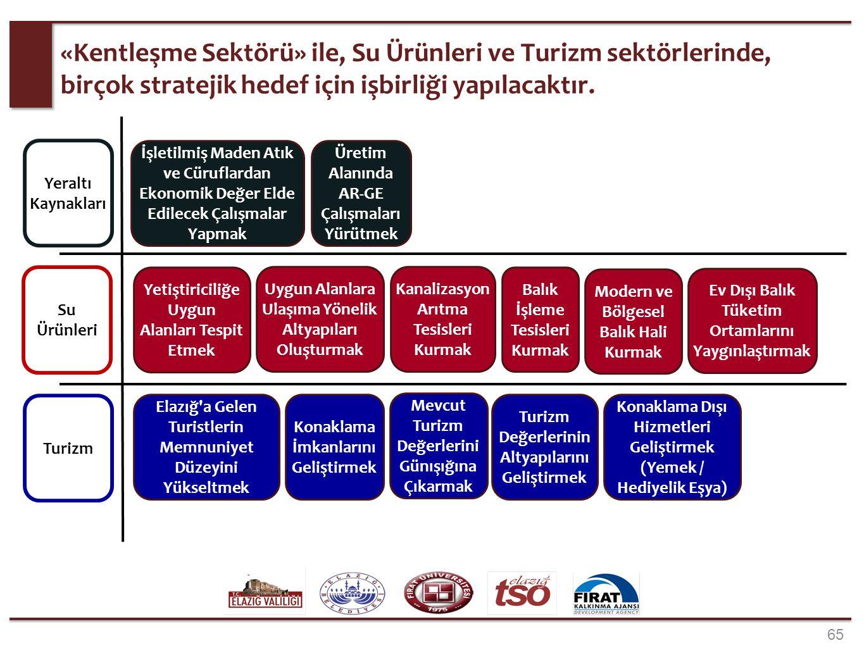 65 «Kentleşme Sektörü» ile, Su Ürünleri ve Turizm sektörlerinde, birçok stratejik hedef için işbirliği yapılacaktır. Balık İşleme Tesisleri Kurmak Mod