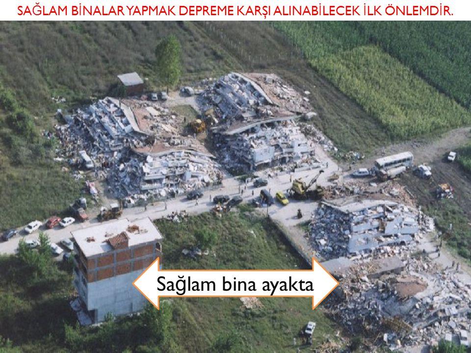 depremler Sa ğ lam binaları yapmak depreme karşı alınabilecek ilk önlemdir. Sa ğ lam bina ayakta SA Ğ LAM B İ NALAR YAPMAK DEPREME KARŞI ALINAB İ LECE