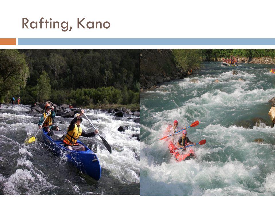 Rafting, Kano
