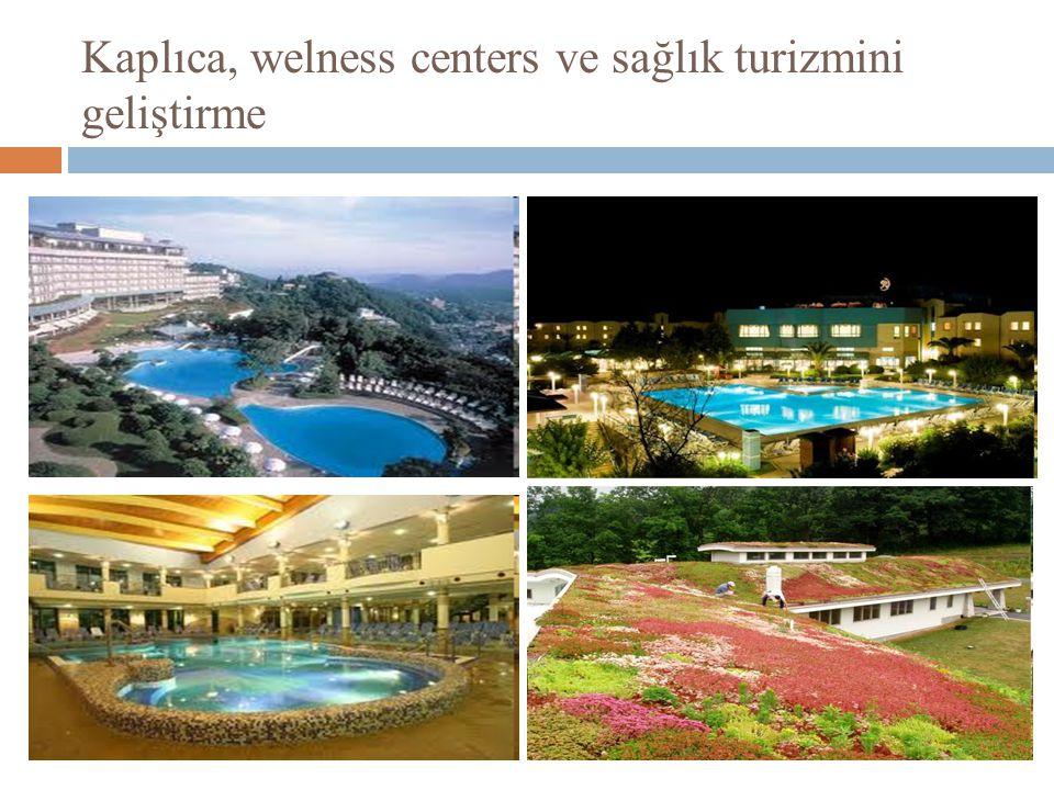 Kaplıca, welness centers ve sağlık turizmini geliştirme