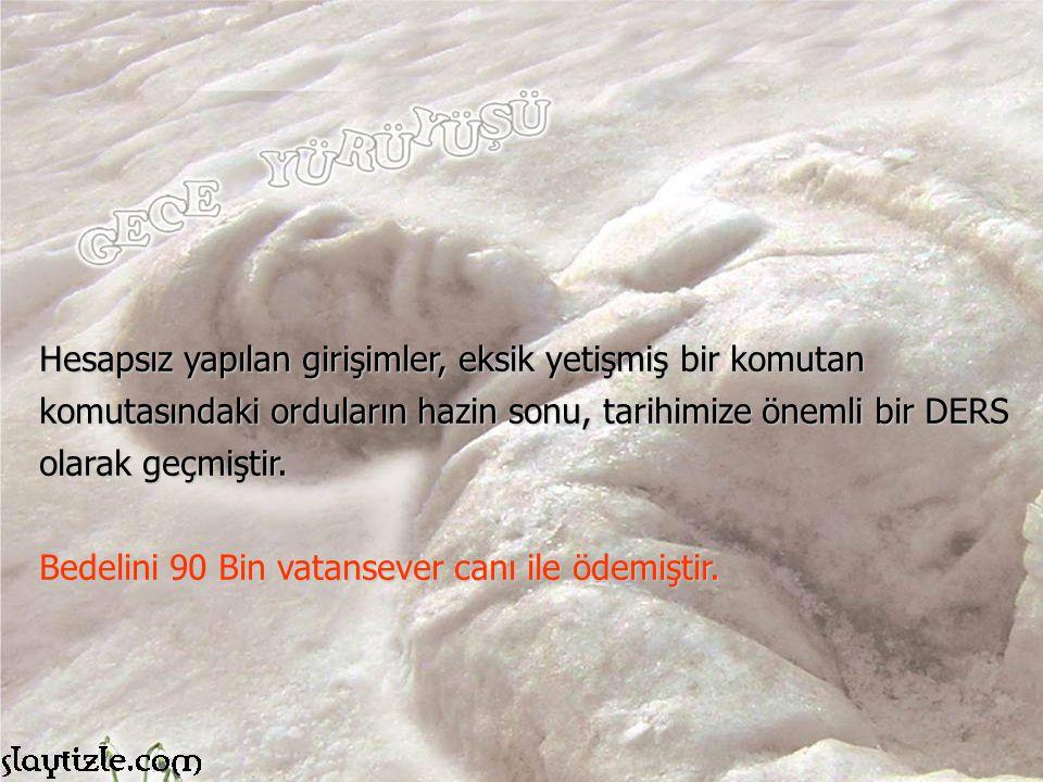 Osmanlı ordusunun, asker sıkıntısı çektiği, nüfusun 12 milyon olduğu bir dönemde 90 Bin Bin şehit verilmesi büyük bir kayıp olmuştur.