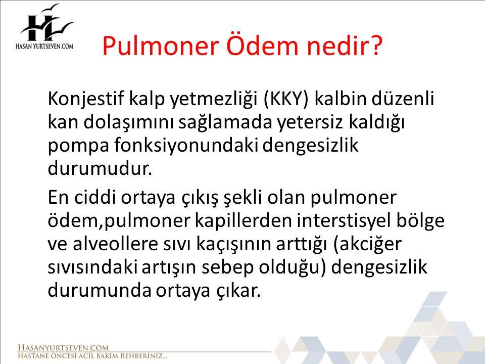 Pulmoner Ödem nedir.