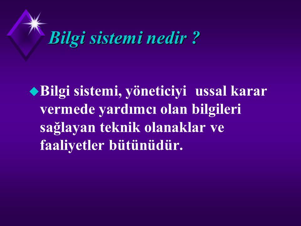 Bilgi sistemi Bilgi sistemi