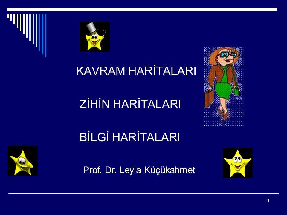 1 Prof. Dr. Leyla Küçükahmet KAVRAM HARİTALARI ZİHİN HARİTALARI BİLGİ HARİTALARI