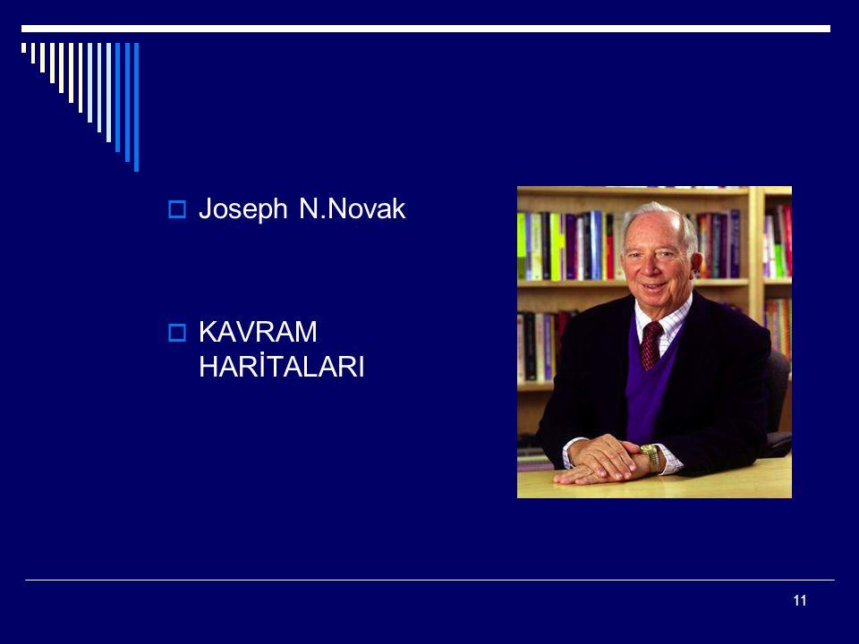 11  Joseph N.Novak  KAVRAM HARİTALARI