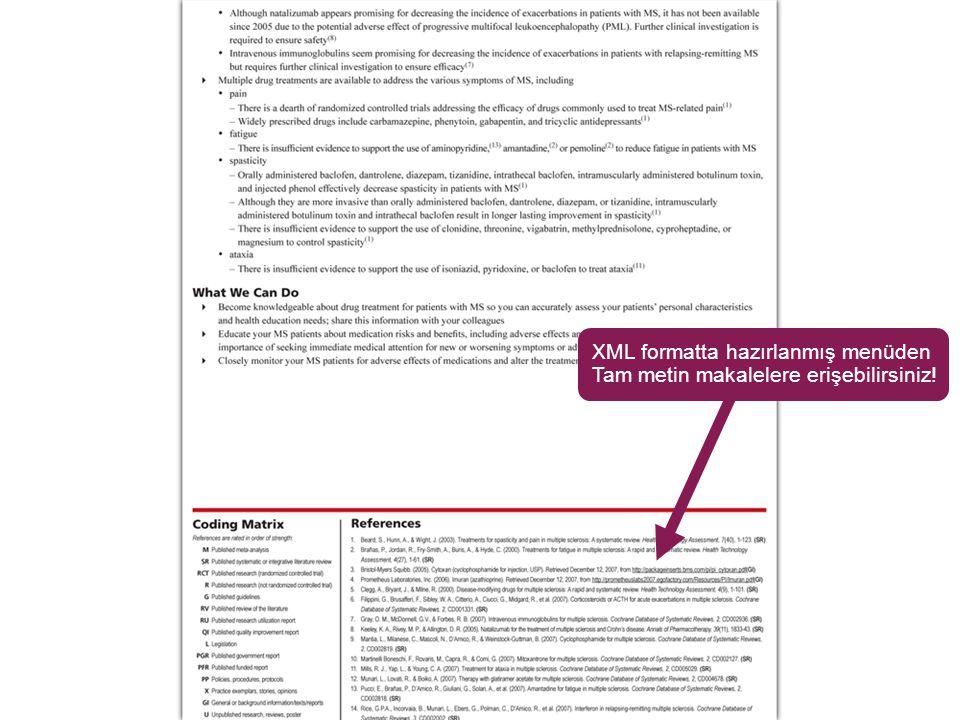 XML formatta hazırlanmış menüden Tam metin makalelere erişebilirsiniz!