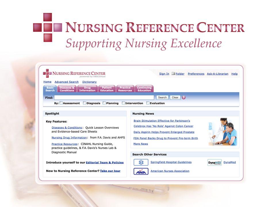 Akademisyenler Klinisyen Hemşireler Hemşirelik Öğrencileri(Lisans, Yüksek Lisans ve Doktora Öğrencileri Eğitimden Sorumlu Hemşireler Yardımcı Sağlık Uygulayıcıları Tıp Kütüphanecileri Klinik Risk Yöneticileri Nursing Reference Center Kullanıcıları Kimlerdir?