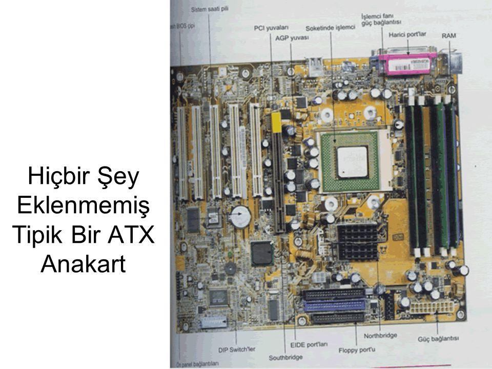 Hiçbir Şey Eklenmemiş Tipik Bir ATX Anakart