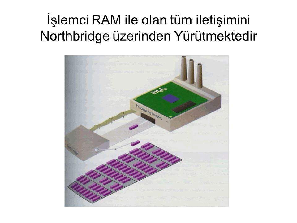 İşlemci RAM ile olan tüm iletişimini Northbridge üzerinden Yürütmektedir