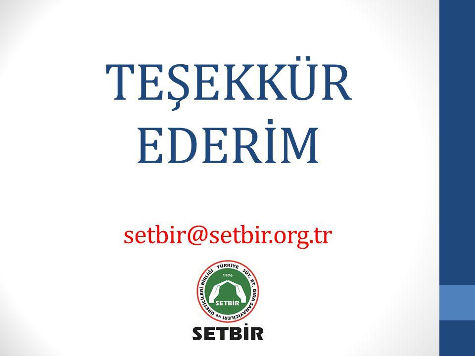 TEŞEKKÜR EDERİM setbir@setbir.org.tr