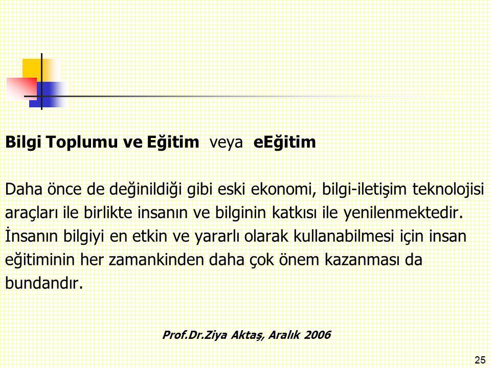 26 Prof.Dr.Ziya Aktaş, Aralık 2006