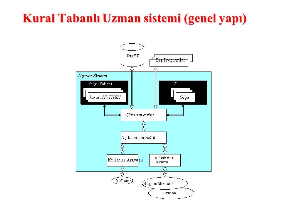 Kural Tabanlı Uzman sistemi (genel yapı)