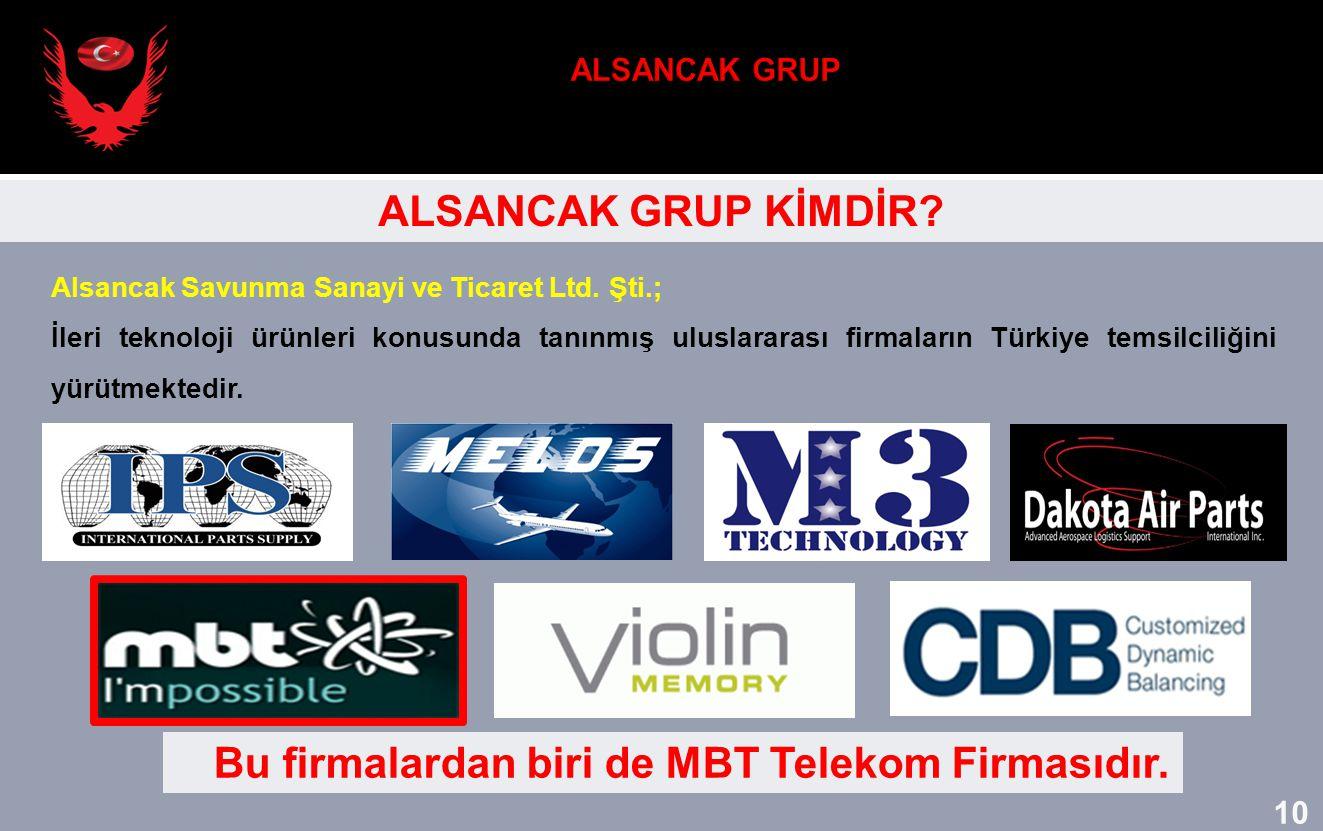 Alsancak Savunma Sanayi ve Ticaret Ltd. Şti.; İleri teknoloji ürünleri konusunda tanınmış uluslararası firmaların Türkiye temsilciliğini yürütmektedir