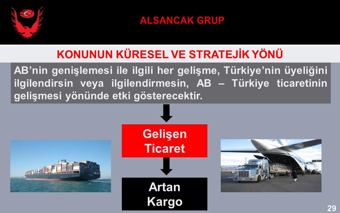 AB'nin genişlemesi ile ilgili her gelişme, Türkiye'nin üyeliğini ilgilendirsin veya ilgilendirmesin, AB – Türkiye ticaretinin gelişmesi yönünde etki g