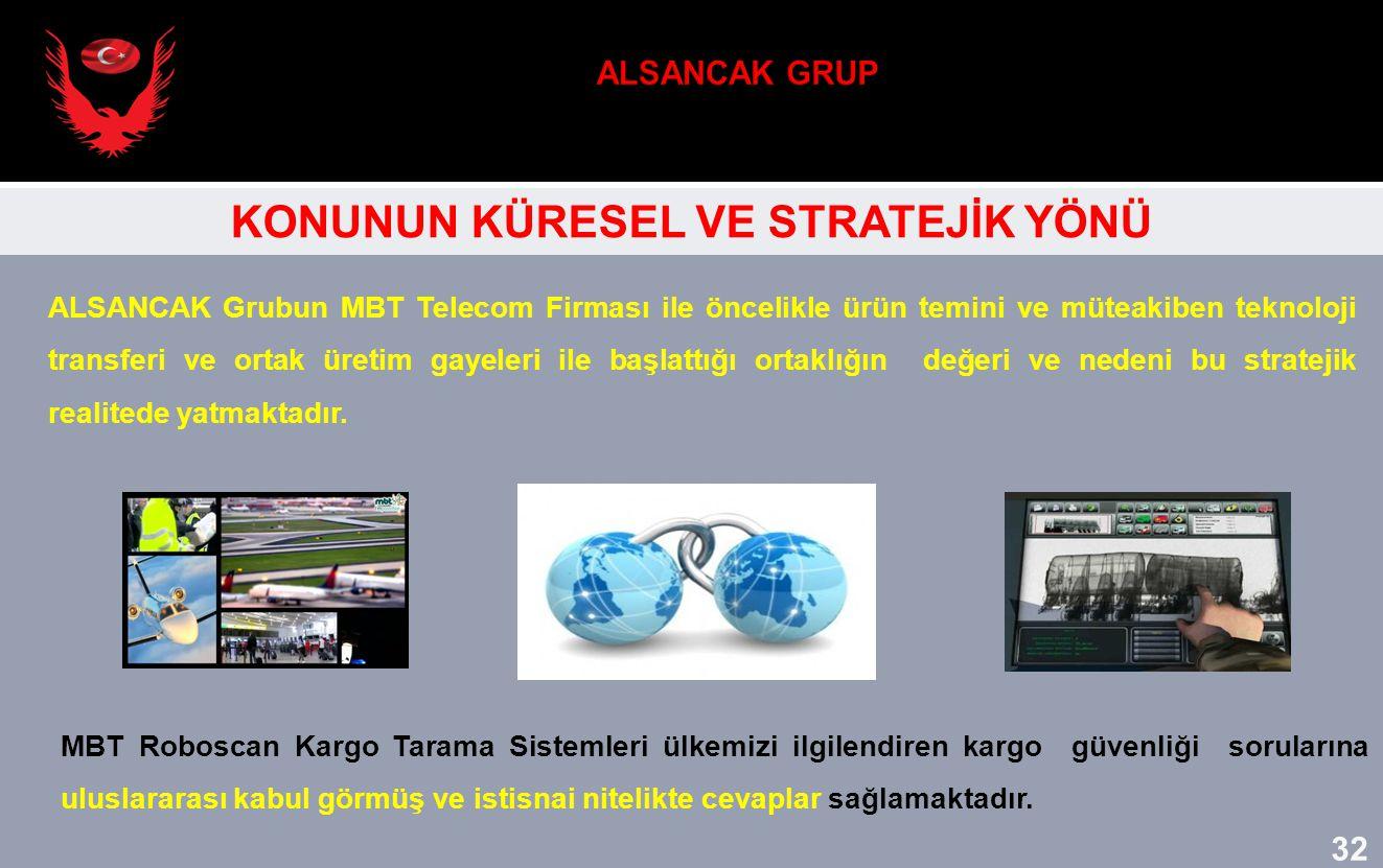 ALSANCAK Grubun MBT Telecom Firması ile öncelikle ürün temini ve müteakiben teknoloji transferi ve ortak üretim gayeleri ile başlattığı ortaklığın değ