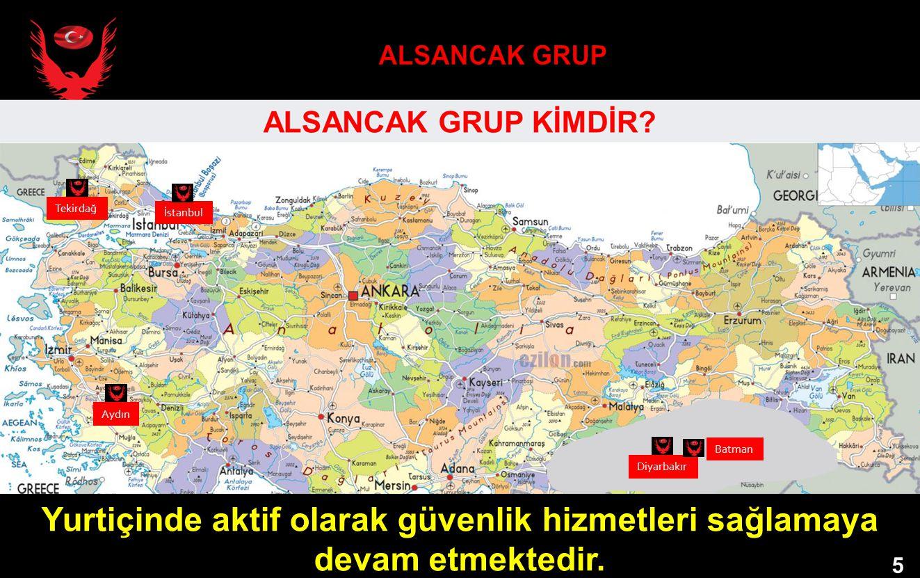 Yurtiçinde aktif olarak güvenlik hizmetleri sağlamaya devam etmektedir. 5 Diyarbakır Aydın Tekirdağ Batman İstanbul 5 5