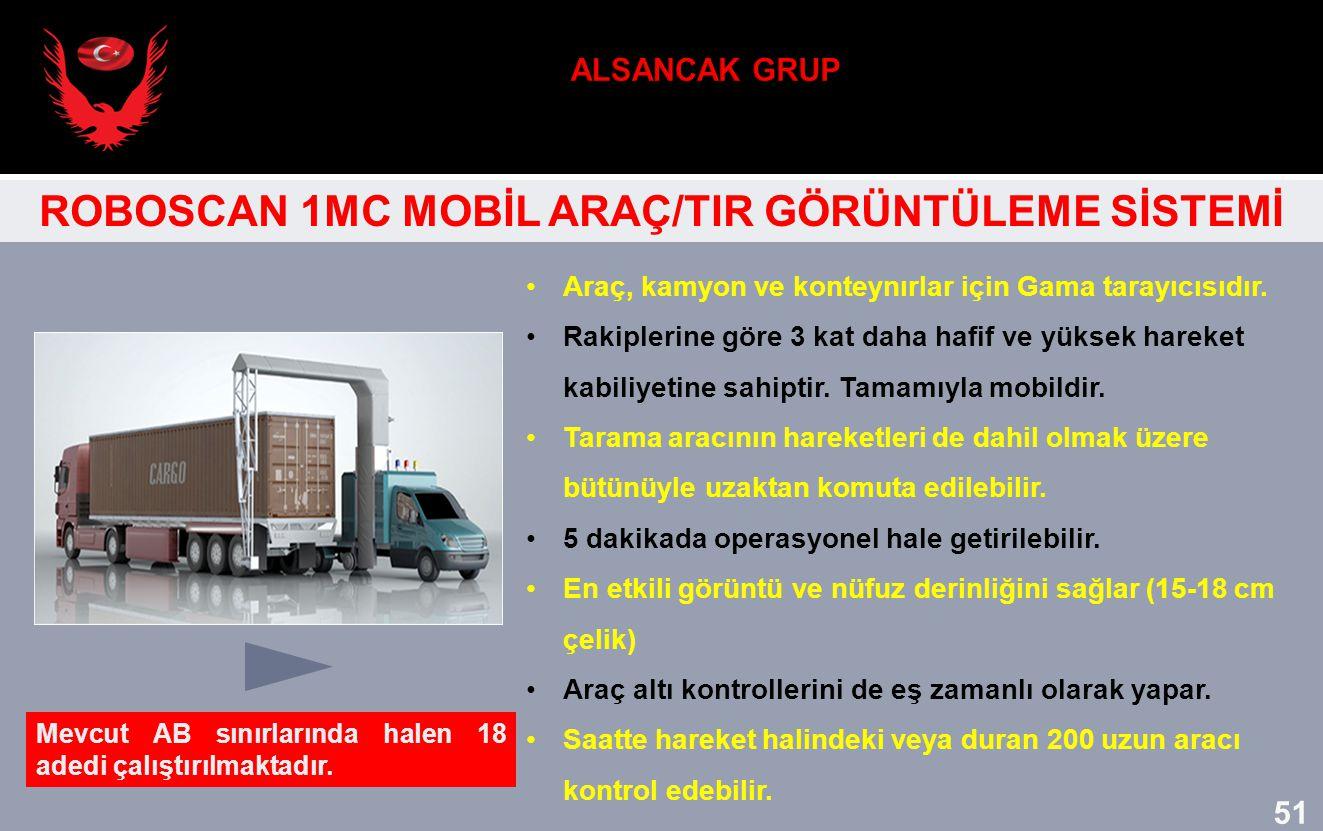 Araç, kamyon ve konteynırlar için Gama tarayıcısıdır. Rakiplerine göre 3 kat daha hafif ve yüksek hareket kabiliyetine sahiptir. Tamamıyla mobildir. T