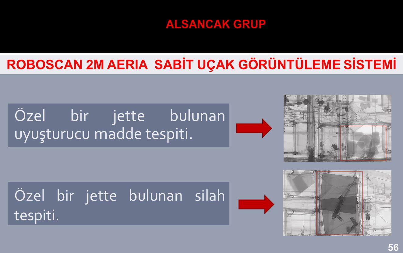 ROBOSCAN 2M AERIA SABİT UÇAK GÖRÜNTÜLEME SİSTEMİ Özel bir jette bulunan uyuşturucu madde tespiti. Özel bir jette bulunan silah tespiti. 56