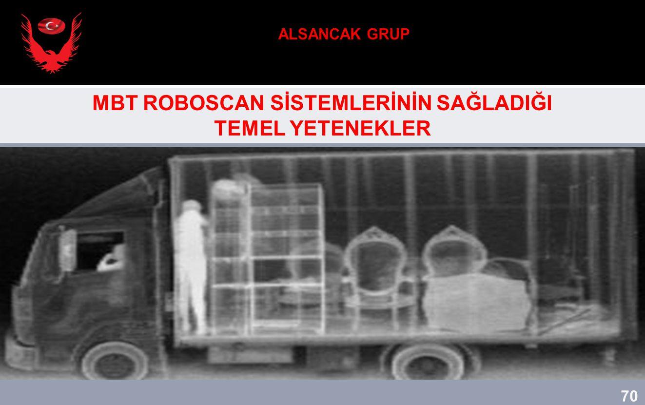 70 MBT ROBOSCAN SİSTEMLERİNİN SAĞLADIĞI TEMEL YETENEKLER 70