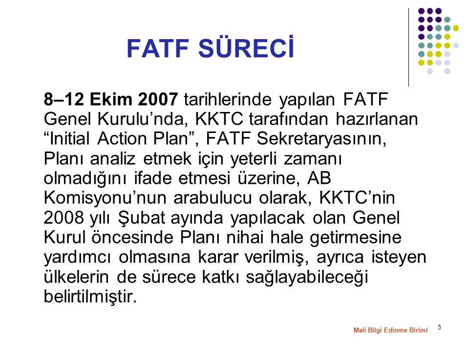 """5 8–12 Ekim 2007 tarihlerinde yapılan FATF Genel Kurulu'nda, KKTC tarafından hazırlanan """"Initial Action Plan"""", FATF Sekretaryasının, Planı analiz etme"""