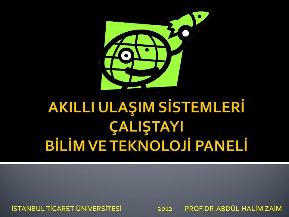 SUNUM PLANI İSTANBUL TİCARET ÜNİVERSİTESİ 2012 PROF.DR.ABDÜL HALİM ZAİM 1.