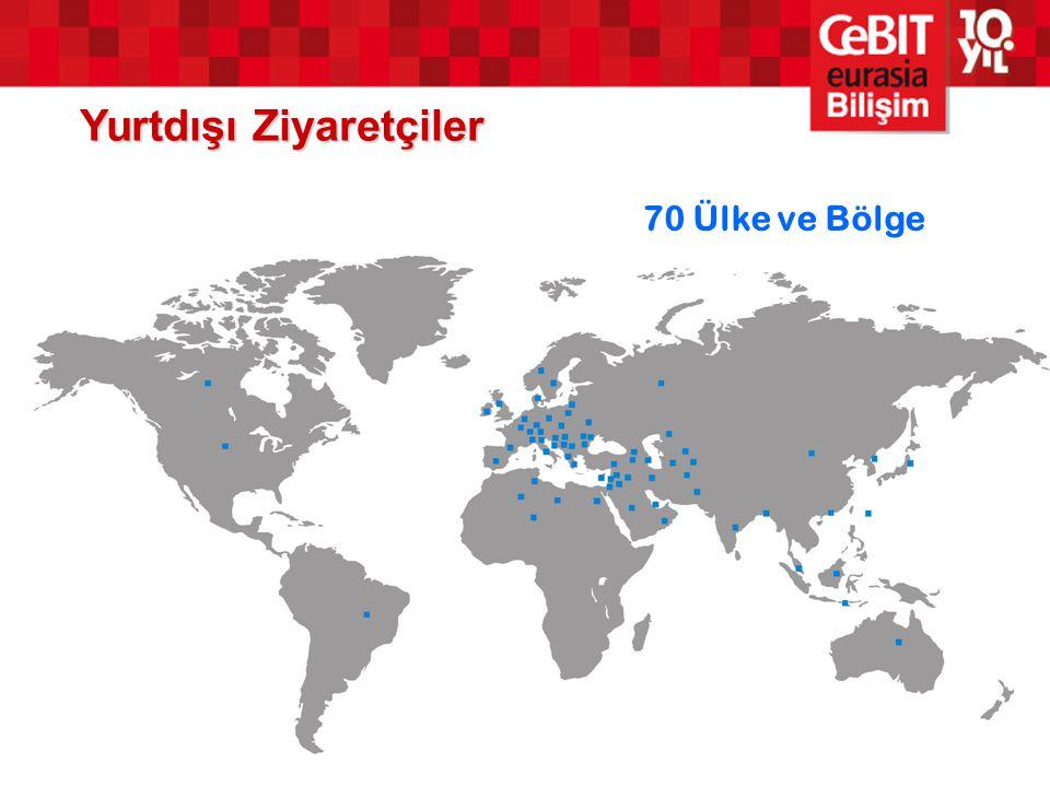 Yurtdışı Ziyaretçiler 70 Ülke ve Bölge
