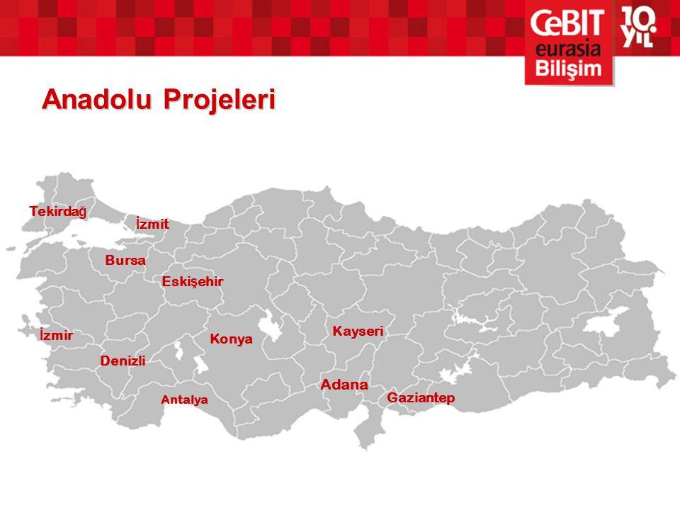 Anadolu Projeleri Adana Bursa Denizli İ zmir Antalya Konya Kayseri Gaziantep Eski ş ehir Tekirda ğ İ zmit