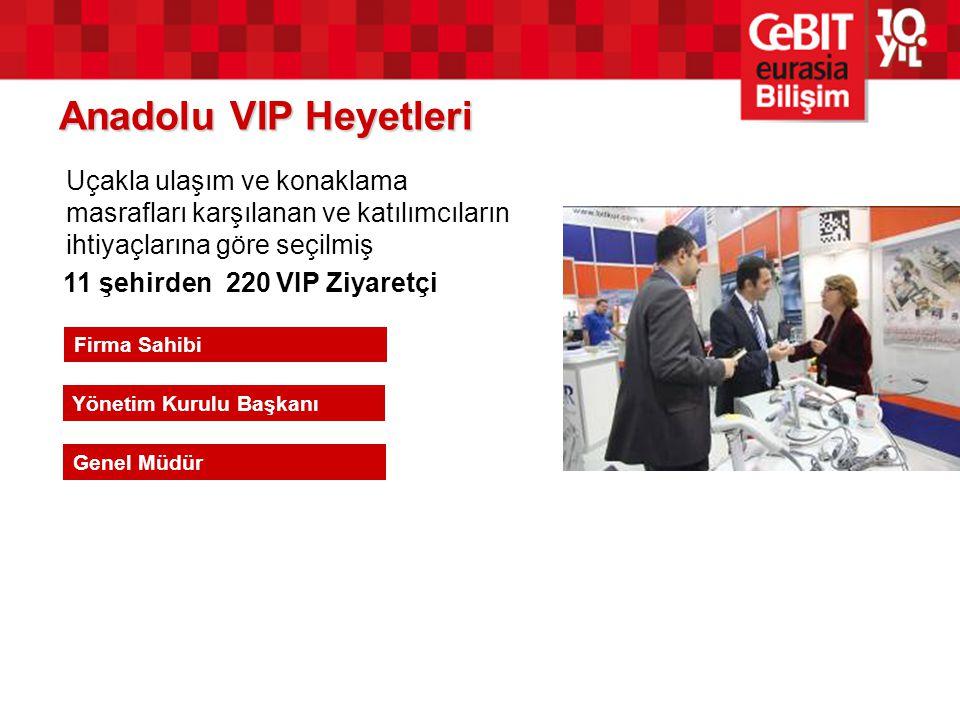 Anadolu VIP Heyetleri 11 şehirden 220 VIP Ziyaretçi Firma Sahibi Yönetim Kurulu Başkanı Genel Müdür Uçakla ulaşım ve konaklama masrafları karşılanan v