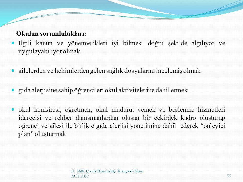 Okulun sorumlulukları: İlgili kanun ve yönetmelikleri iyi bilmek, doğru şekilde algılıyor ve uygulayabiliyor olmak ailelerden ve hekimlerden gelen sağ