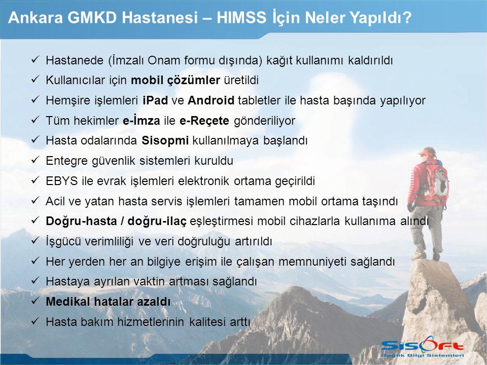 Ankara GMKD Hastanesi – HIMSS İçin Neler Yapıldı.