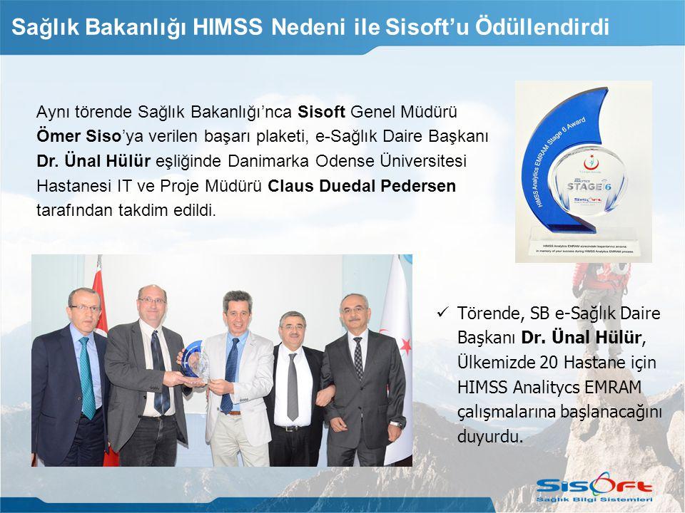 Aynı törende Sağlık Bakanlığı'nca Sisoft Genel Müdürü Ömer Siso'ya verilen başarı plaketi, e-Sağlık Daire Başkanı Dr.