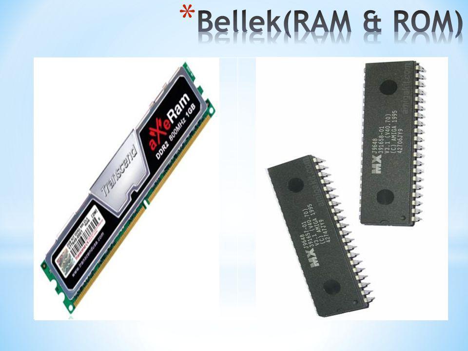 Belleklerde veri birimi byte olarak değerlendirilir; Bit: Bilgisayar sistemleri için sadece iki büyüklüğün anlamı vardır.