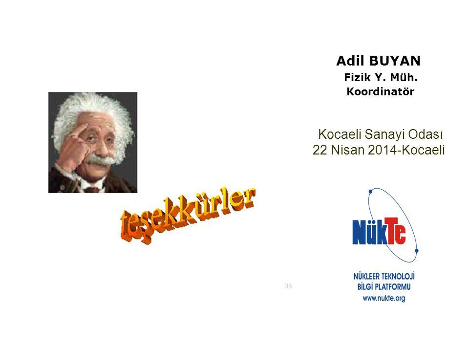 Adil BUYAN Fizik Y. Müh. Koordinatör Kocaeli Sanayi Odası 22 Nisan 2014-Kocaeli