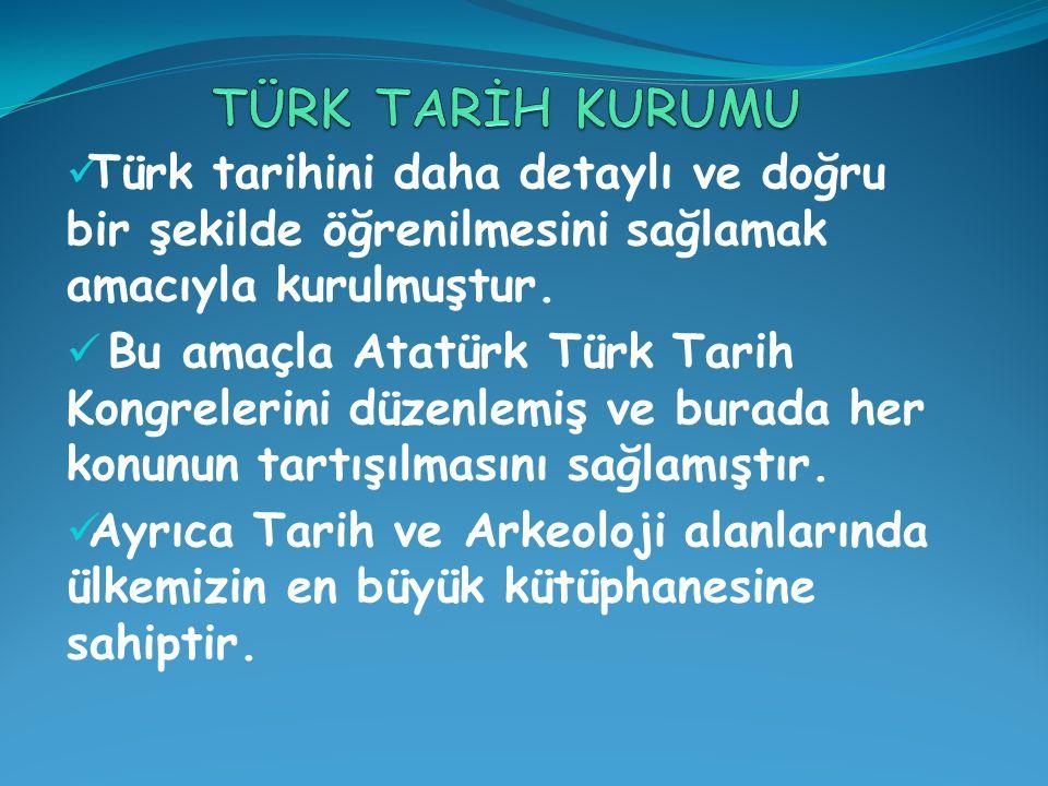 Türk tarihini daha detaylı ve doğru bir şekilde öğrenilmesini sağlamak amacıyla kurulmuştur.