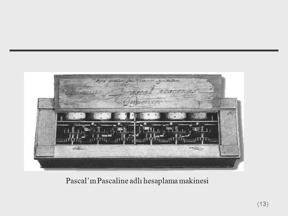 (13) Pascal'ın Pascaline adlı hesaplama makinesi