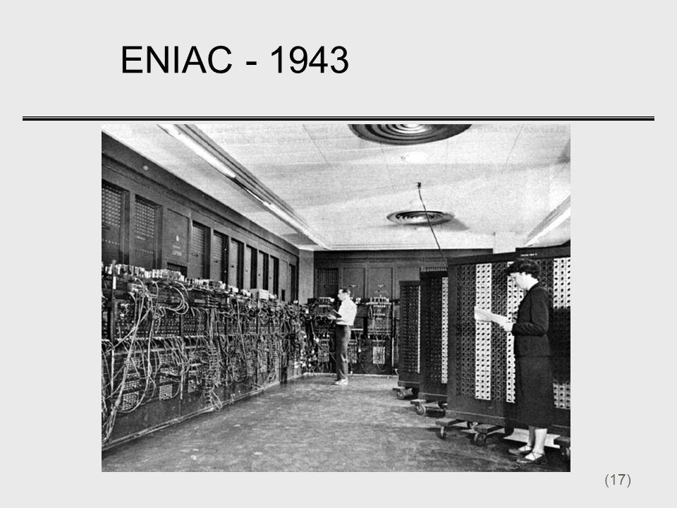 (17) ENIAC - 1943