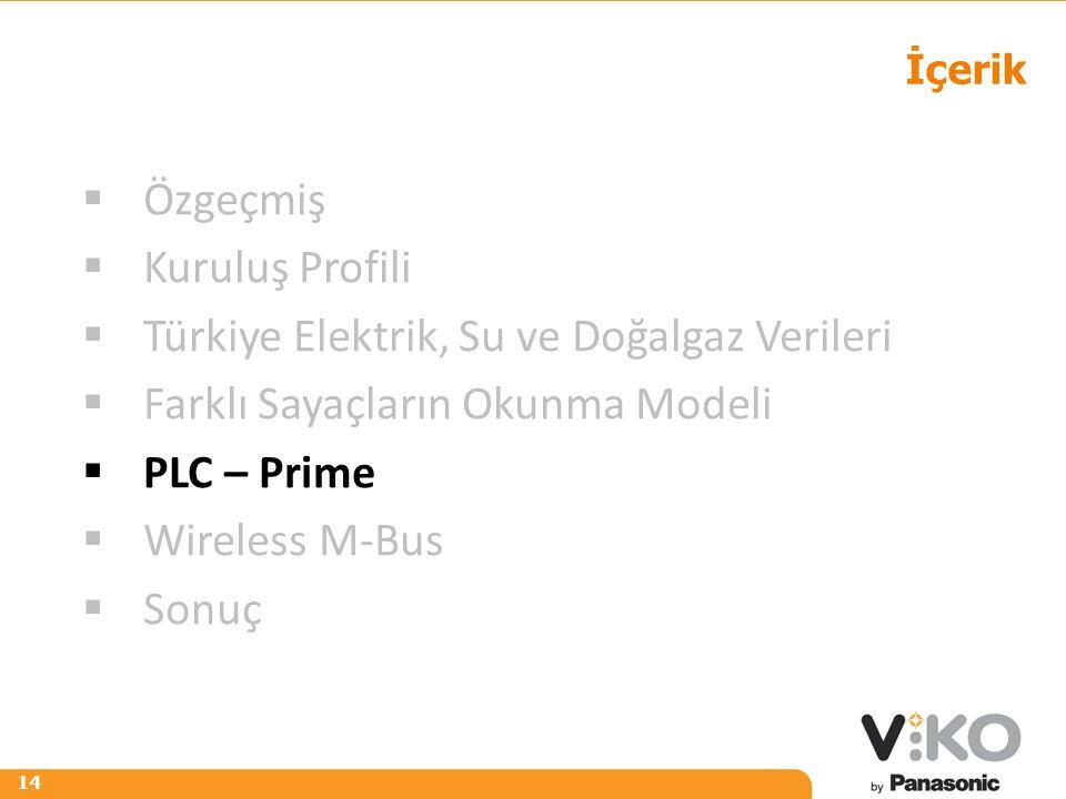 R 242 G 125 B 0 R 153 G 153 B 153 14 İçerik  Özgeçmiş  Kuruluş Profili  Türkiye Elektrik, Su ve Doğalgaz Verileri  Farklı Sayaçların Okunma Modeli