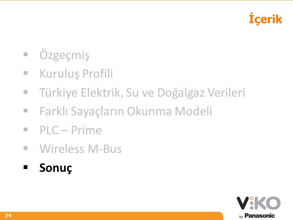 R 242 G 125 B 0 R 153 G 153 B 153 24 İçerik  Özgeçmiş  Kuruluş Profili  Türkiye Elektrik, Su ve Doğalgaz Verileri  Farklı Sayaçların Okunma Modeli