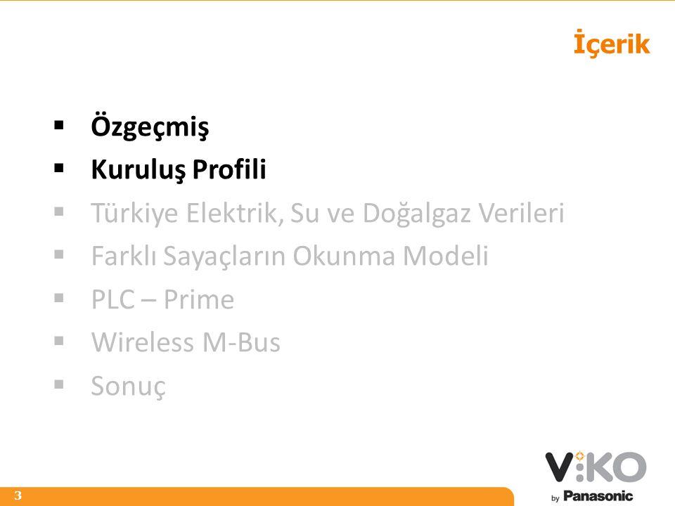 R 242 G 125 B 0 R 153 G 153 B 153 3 İçerik  Özgeçmiş  Kuruluş Profili  Türkiye Elektrik, Su ve Doğalgaz Verileri  Farklı Sayaçların Okunma Modeli