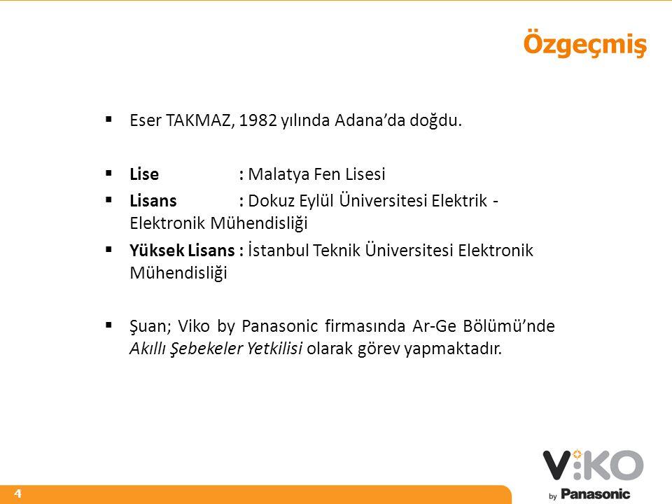 R 242 G 125 B 0 R 153 G 153 B 153 4 Özgeçmiş  Eser TAKMAZ, 1982 yılında Adana'da doğdu.  Lise: Malatya Fen Lisesi  Lisans: Dokuz Eylül Üniversitesi