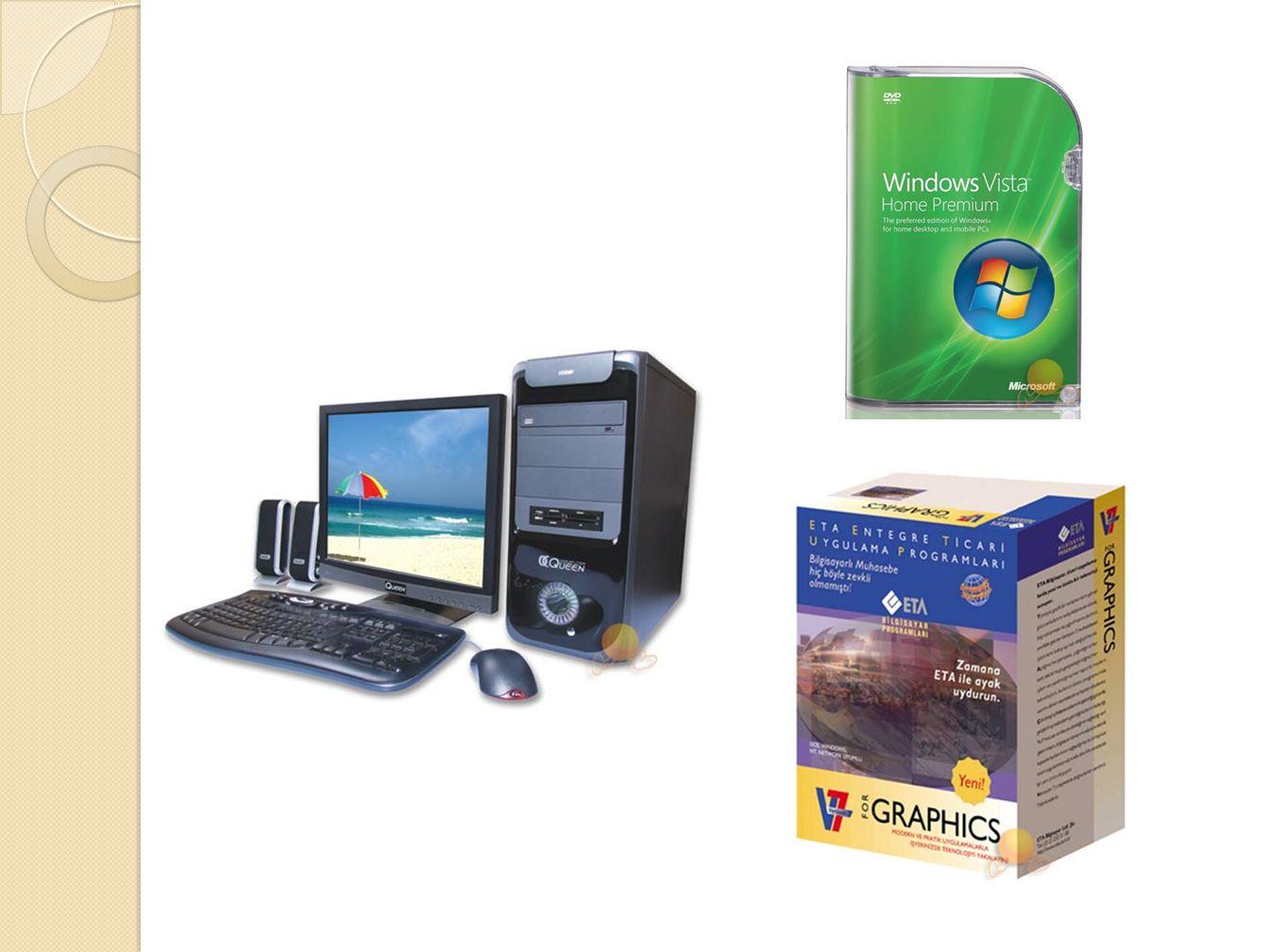 Donanım(hardware), Yazılım(software) Donanım bilgisayarın görünen fiziksel parçalarına denir.