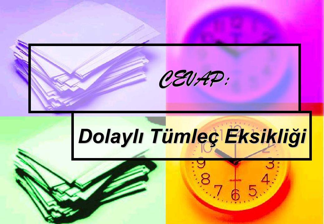 SORU 18 – GENEL KÜLTÜR Şu anda görevde bulunan Cumhurbaşkanımız Abdullah Gül, Türkiye Cumhuriyeti'nin kaçıncı cumhurbaşkanıdır?