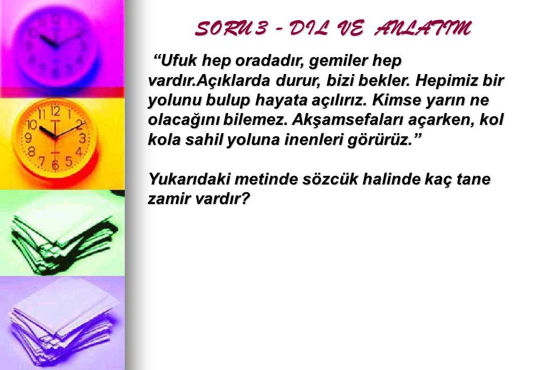 CEVAP: 5